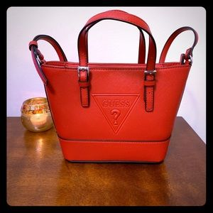 Guess Red Crossbody Satchel
